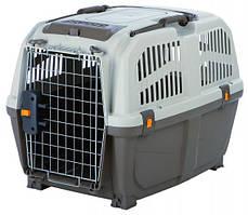 Переноска Skudo 4 для собак до 30 кг 51х48х68 см, серый/коричневый
