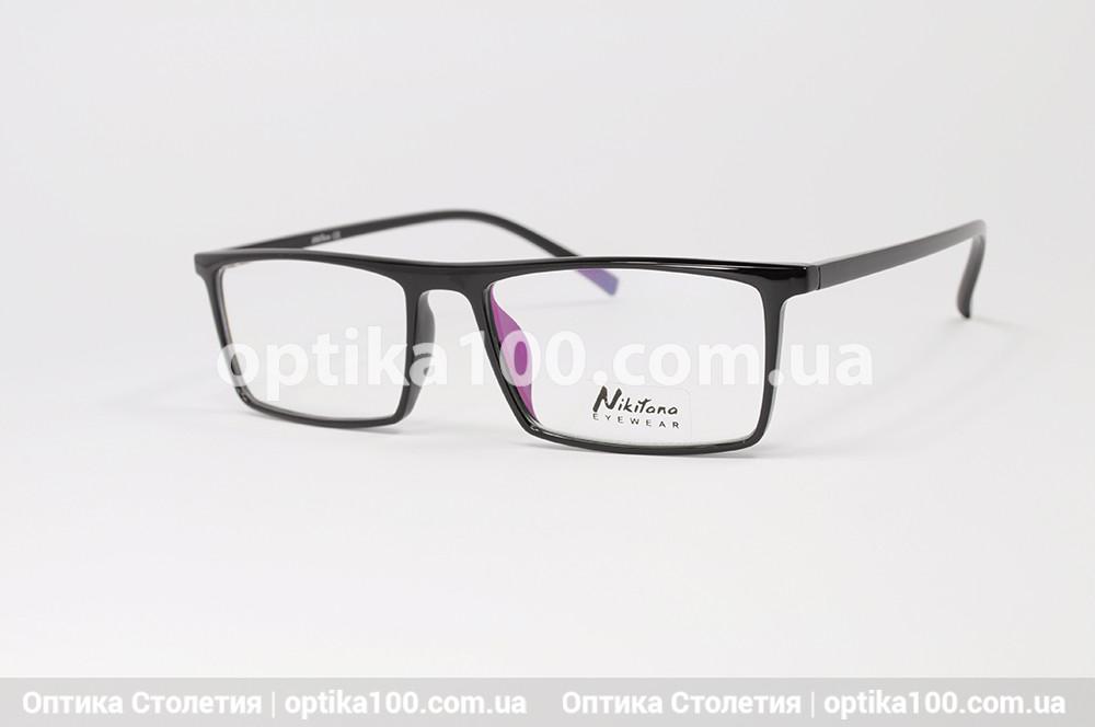 Оправа для окулярів чорна прямокутна. Легка (з матеріалу TR-90)