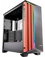 """Корпус Cougar Dark Blader-S 4*3.5""""/4*2.5"""" панель з шліфованого алюмінію, RGB підсвічування, загартоване скло"""