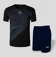 Спортивный мужской костюм футболка с шортами