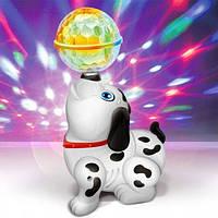 Музыкальная интерактивная игрушка танцующая Собачка - ходит с диско шаром Yijun