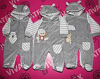 Комбинезон для новорожденных Барашек велюр, фото 1