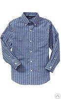 Рубашка для мальчиков школьная клетка