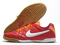 Бампы футзальные мужские Nike Tiempo красные (найк темпо)
