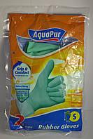 Перчатки резиновые хозяйственные AquaPur, размер S (2 пары)