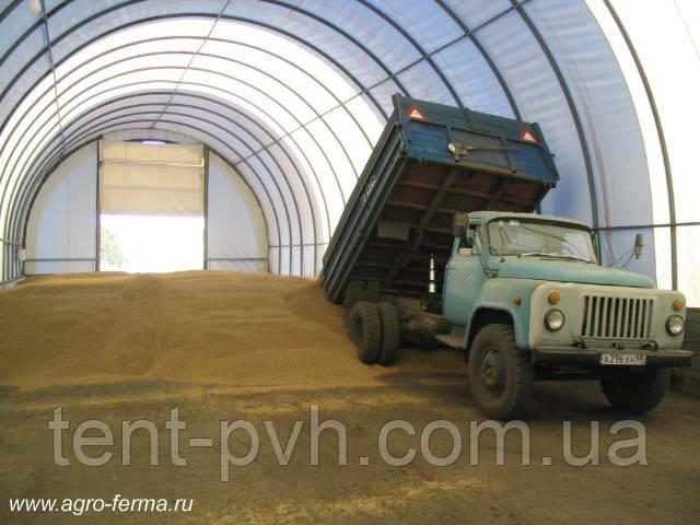 Строительство зернохранилищ - Тенты Украины - тентовая компания в Харькове