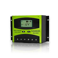 Контроллер заряда солнечной панели Raggie RG-502D, 12V/24V 40A. Оригинальный Solar charge controller