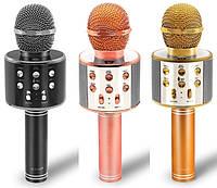Микрофон для караоке WS-858 с динамиком (колонкой), микрофон для караоке