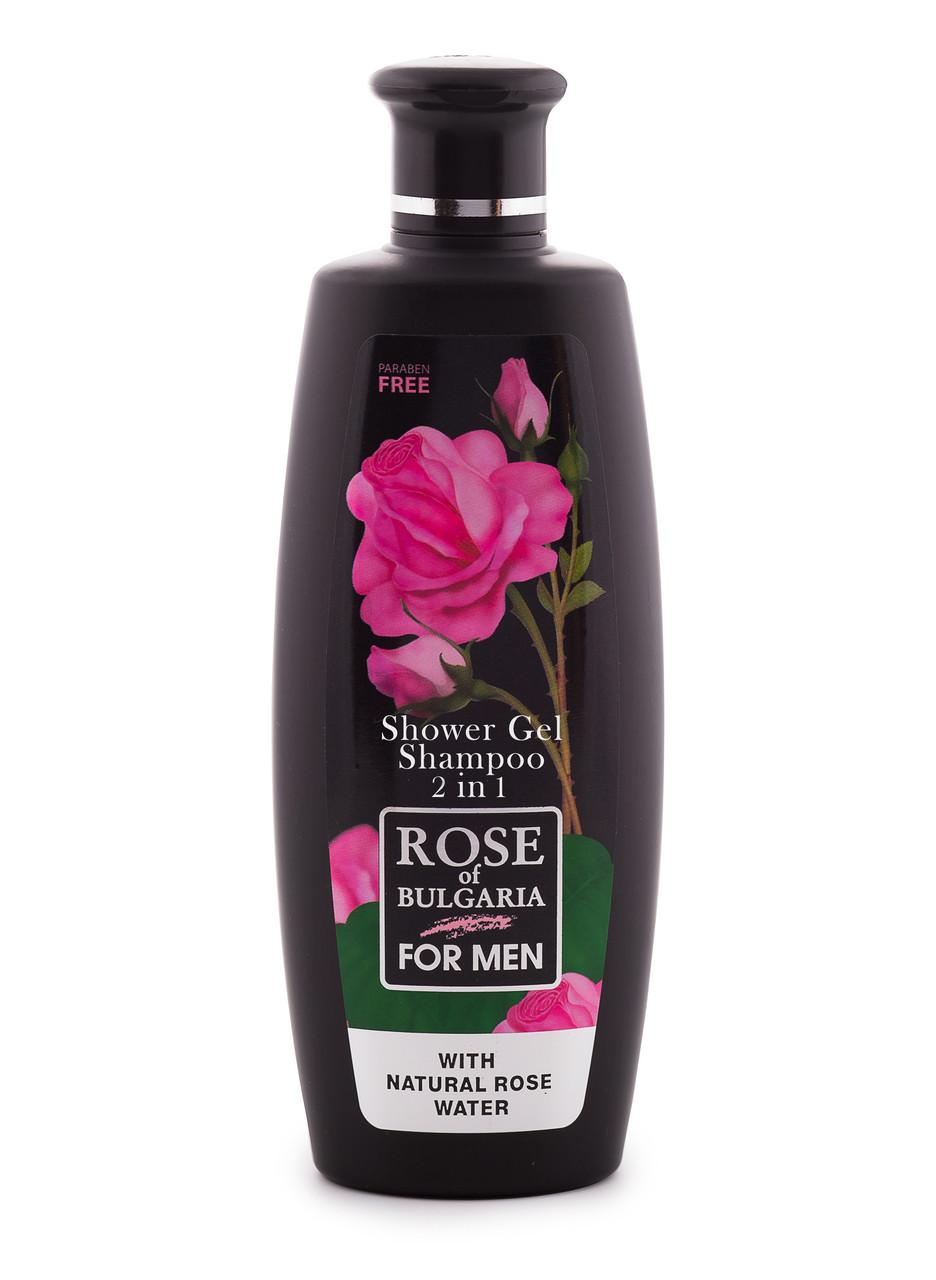 Гель для душа+шампунь для мужчин Rose of Bulgaria от BioFresh 330 мл