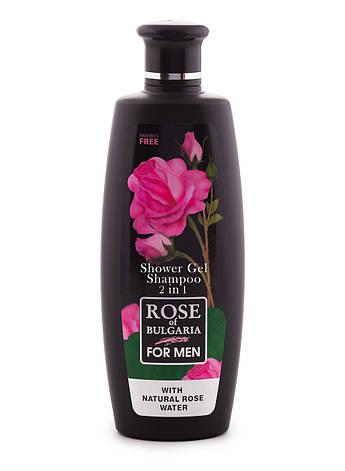 Гель для душа+шампунь для мужчин Rose of Bulgaria от BioFresh 330 мл, фото 2