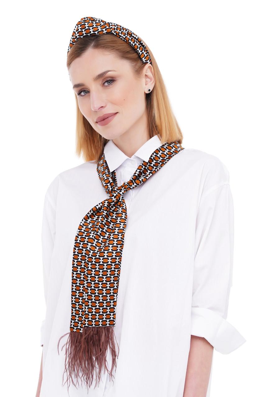 Яркий летний набор my scarf (обруч+твилли с перьями) от myscarf