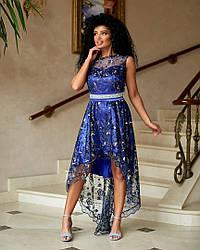 Плаття нарядне подовжене в кольорах 48484