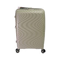 Средний чемодан из полипропилена Snowball Robust 73 л бежевый, фото 1