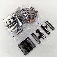 Застібка на купальник 2.5 см колір блек нікель. (10 комплектів в упаковці)