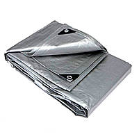 Тент тарпаулін універсальний WIMAR PLANDEKA MOCNA 6х10 метра, сірий колір, щільність 110 г/м2, армований