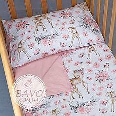 Детское постельное белье в кроватку для новорожденных, комплект в детскую кроватку для новорожденных Оленёнок