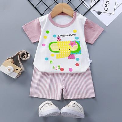 Летний костюм на девочку  Слоник 1-4 года