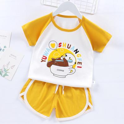 Летний костюм унисекс Мишка желтый 1-4 года