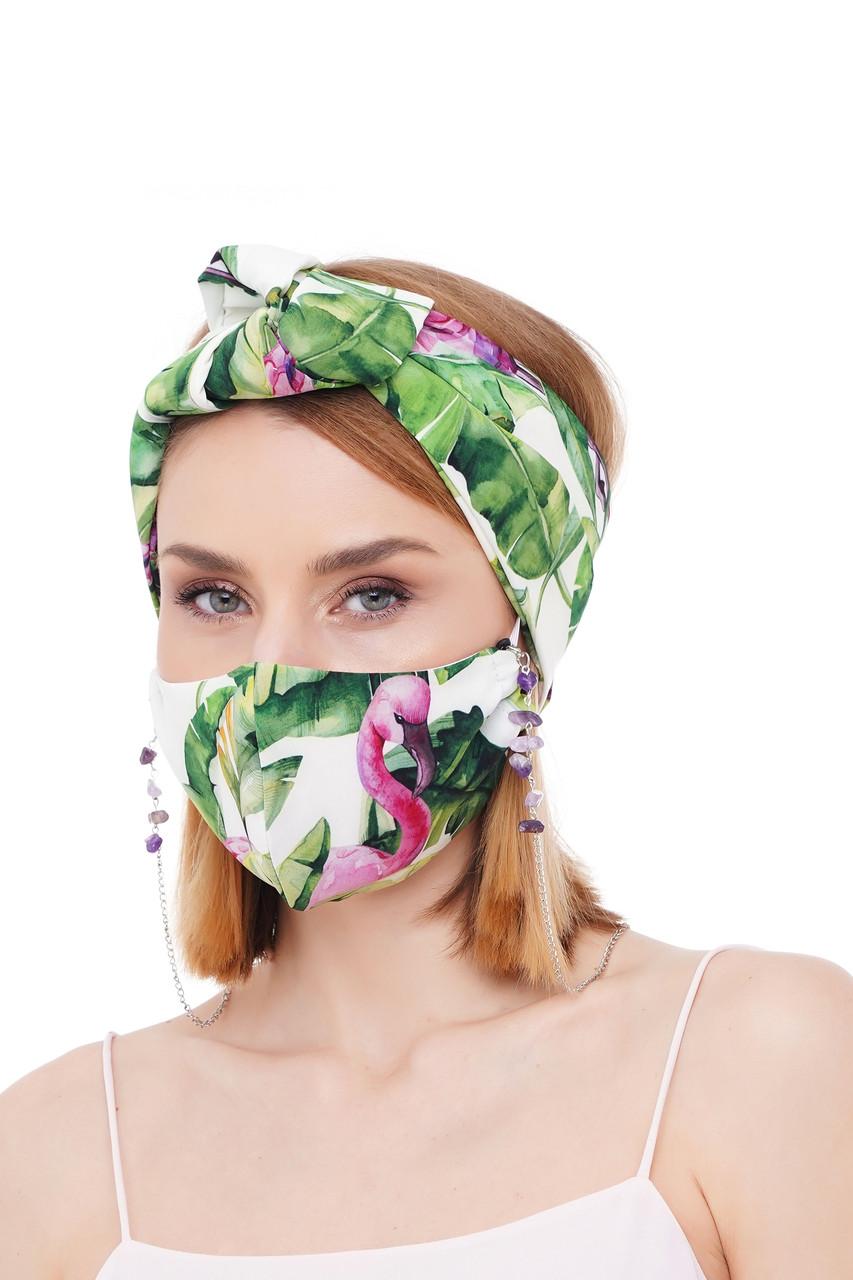 Літній набір маска +ланцюжок для маски