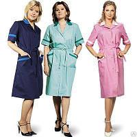 Халаты для сферы обслуживания женские модельные, пошив