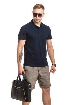 Чоловіча футболка поло, темно-синя, фото 2