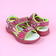 5211A Спортивные розовые босоножки для девочки тм Том.м размер 34,35,37