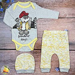 Боді, штанці і шапочка для малюка Розміри: 3,6,9 місяців (02000)