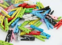 Мини прищепки разноцветные 10 штук 2,5 см.
