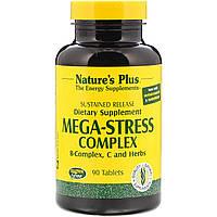 Супер Сильный Комплекс от Стресса Mega-Stress Natures Plus 90 таблеток, КОД: 1878322
