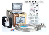 Цифровой PID регулятор REX-C100, реле SSR-40 DA-H Taiwan, термопара К тип 2 метра, радиатор, фото 1