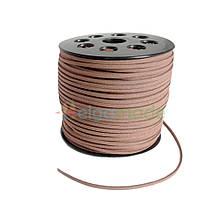 Замшевий шнур 3 мм СВІТЛО-КОРИЧНЕВИЙ, 1 м