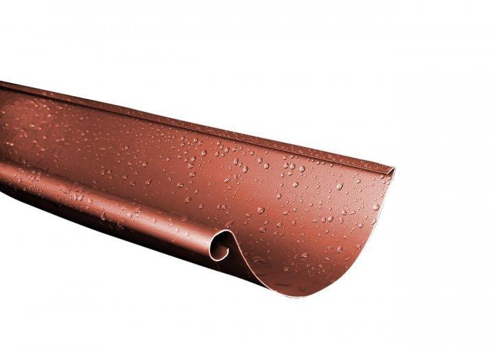 Желоб металлический RUNA  4м 125мм Ринва металева RUNA Кирпичный