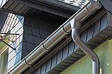 Труба водосточная металлическая RUNA  3м 90мм Труба водостічна RUNA Темно-коричнева, фото 4