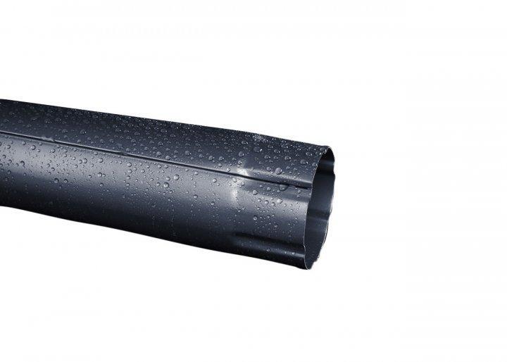 Труба водосточная металлическая RUNA  3м 90мм Труба водостічна RUNA Чорна