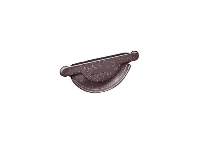 Заглушка желоба металлическая RUNA 125мм Заглушка ринви металева RUNA