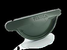 Заглушка желоба металлическая RUNA 125мм Заглушка ринви металева RUNA Зелена