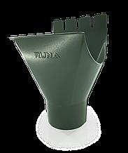 Воронка водосточная металлическая RUNA 125/90мм Воронка (лійка) металева RUNA Зелена