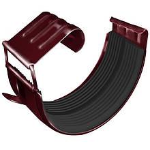 Соединитель желоба металлический RUNA 125/90мм З'єднувач ринви металевий RUNA Вишневий