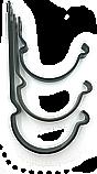 Держатель кронштейн желоба 125мм короткий RUNA металлический 1,2мм тримач ринви RUNA 125мм металевий кронштейн, фото 3