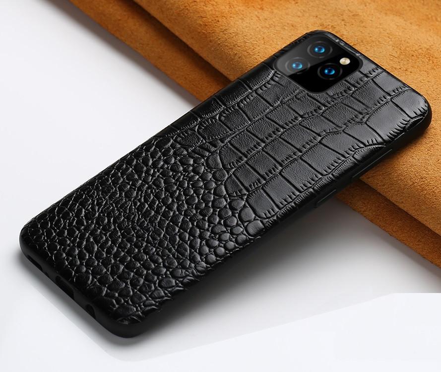 Кожаный чехол под крокодила для Apple iPhone 11 Pro Max