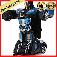 Детская игрушка машинка на радиоуправлении, машинка оригинальная Bugatti Robot, робот трансформер