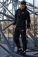 Комплект мужской Ветровка + Штаны Nike черный | Спортивный костюм мужской весенний осенний ЛЮКС качества