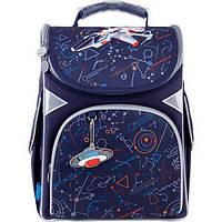 Рюкзак шкільний каркасний для хлопчика GoPack Education Spaceship 34*26*13 см, фото 1