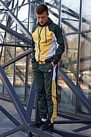 Комплект мужской Ветровка + Штаны Nike желто-зеленый | Спортивный костюм весенний осенний ЛЮКС качества