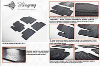 Kia Rio 2011 резиновые коврики Stingray Premium