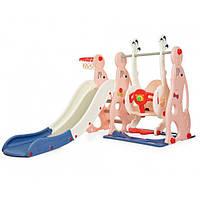 Дитяча гірка-гойдалка Bambi WM19020-8 (pink/blue)