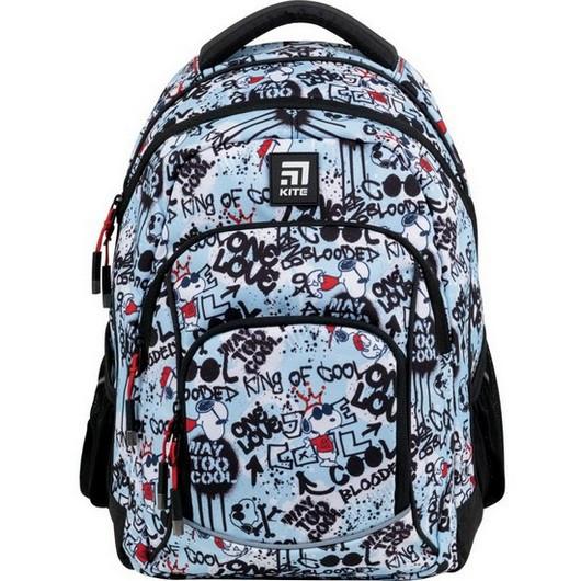 Рюкзак шкільний для дівчинки Kite Education Peanuts Snoopy SN21-814M 40*30*15 см