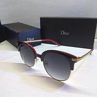 Очки женские солнцезащитные Dior круглые, фото 1