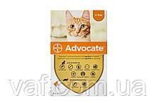 Капли на холку от блох, клещей, глистов для котов Адвокат (Advocate) весом до 4 кг