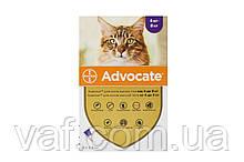 Капли на холку от блох, клещей, глистов для котов Адвокат (Advocate) весом 4-8 кг